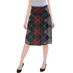 Wool Texture With Great Pattern Midi Beach Skirt by BangZart