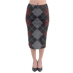 Wool Texture With Great Pattern Midi Pencil Skirt by BangZart