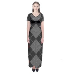 Wool Texture With Great Pattern Short Sleeve Maxi Dress by BangZart