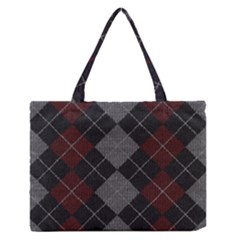 Wool Texture With Great Pattern Medium Zipper Tote Bag