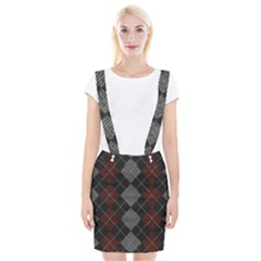 Wool Texture With Great Pattern Braces Suspender Skirt