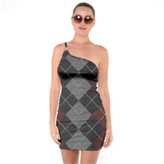 Wool Texture With Great Pattern One Soulder Bodycon Dress by BangZart