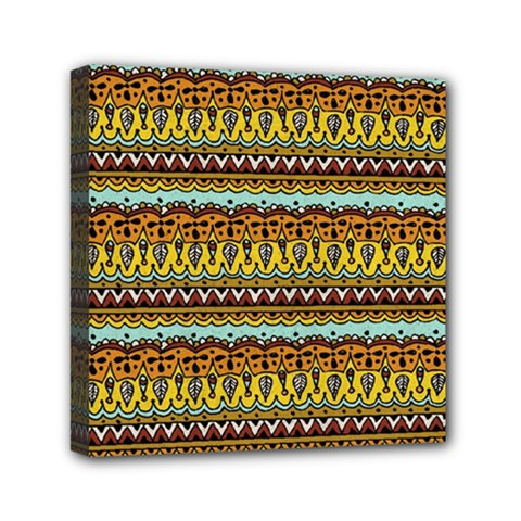Bohemian Fabric Pattern Mini Canvas 6  X 6  by BangZart