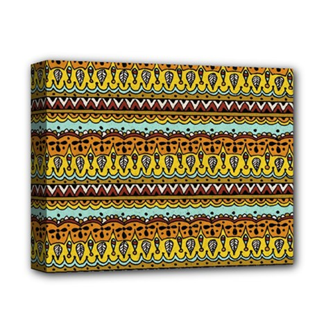 Bohemian Fabric Pattern Deluxe Canvas 14  X 11  by BangZart