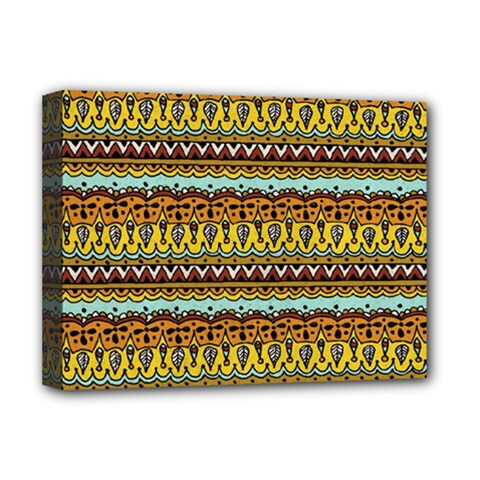 Bohemian Fabric Pattern Deluxe Canvas 16  X 12