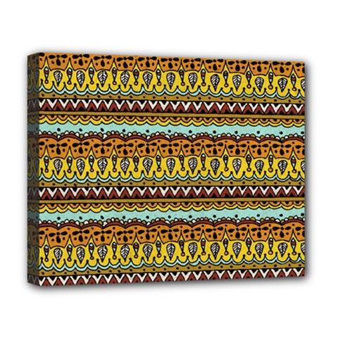 Bohemian Fabric Pattern Deluxe Canvas 20  X 16   by BangZart