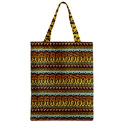 Bohemian Fabric Pattern Zipper Classic Tote Bag by BangZart