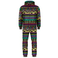 Aztec Pattern Cool Colors Hooded Jumpsuit (men)  by BangZart