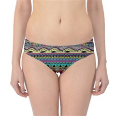 Aztec Pattern Cool Colors Hipster Bikini Bottoms