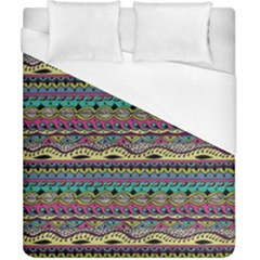 Aztec Pattern Cool Colors Duvet Cover (california King Size) by BangZart
