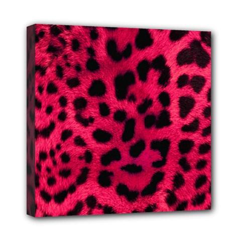Leopard Skin Mini Canvas 8  X 8