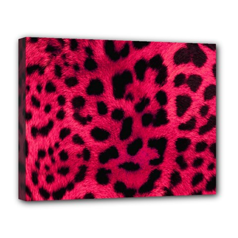 Leopard Skin Canvas 14  X 11