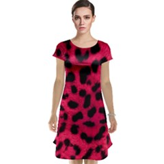 Leopard Skin Cap Sleeve Nightdress by BangZart