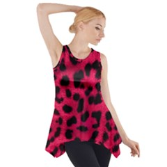 Leopard Skin Side Drop Tank Tunic