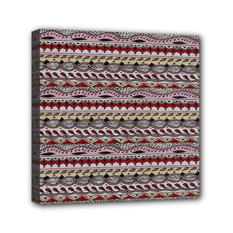 Aztec Pattern Patterns Mini Canvas 6  X 6