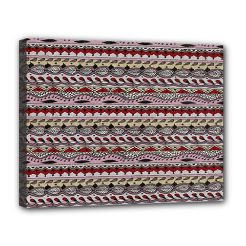 Aztec Pattern Patterns Canvas 14  X 11  by BangZart