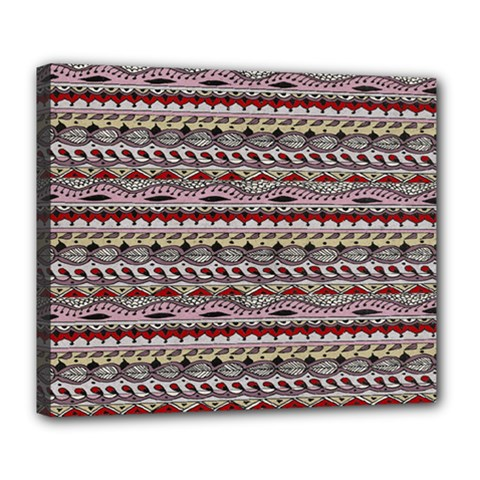 Aztec Pattern Patterns Deluxe Canvas 24  X 20   by BangZart