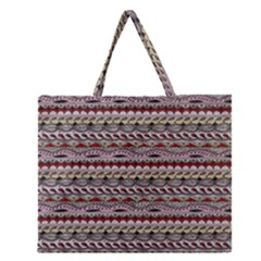 Aztec Pattern Patterns Zipper Large Tote Bag by BangZart