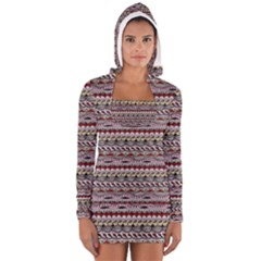 Aztec Pattern Patterns Women s Long Sleeve Hooded T Shirt