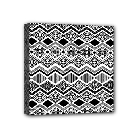 Aztec Design  Pattern Mini Canvas 4  X 4  by BangZart