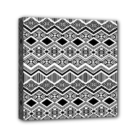 Aztec Design  Pattern Mini Canvas 6  X 6  by BangZart