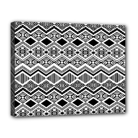 Aztec Design  Pattern Canvas 14  X 11