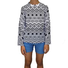 Aztec Design  Pattern Kids  Long Sleeve Swimwear