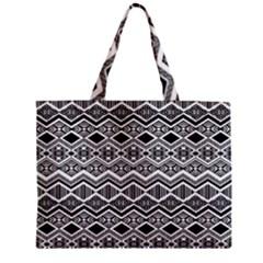 Aztec Design  Pattern Zipper Mini Tote Bag
