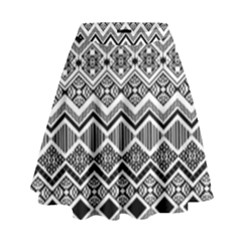Aztec Design  Pattern High Waist Skirt