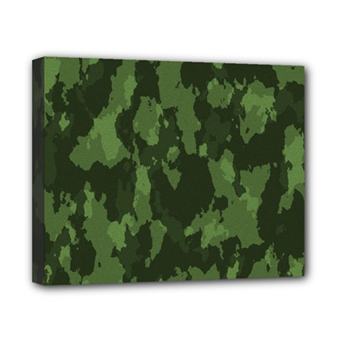 Camouflage Green Army Texture Canvas 10  X 8  by BangZart