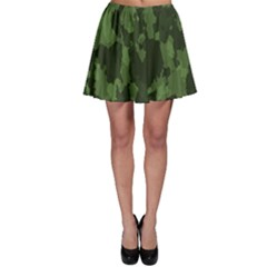 Camouflage Green Army Texture Skater Skirt