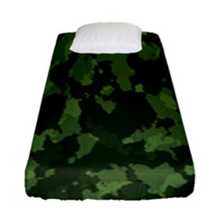 Camouflage Green Army Texture Fitted Sheet (single Size) by BangZart