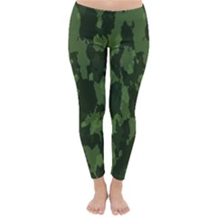 Camouflage Green Army Texture Classic Winter Leggings by BangZart