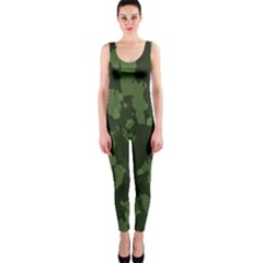 Camouflage Green Army Texture Onepiece Catsuit by BangZart