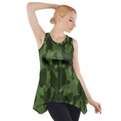 Camouflage Green Army Texture Side Drop Tank Tunic