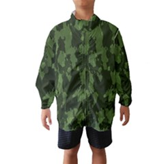 Camouflage Green Army Texture Wind Breaker (kids)