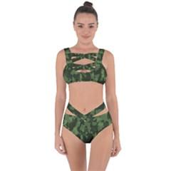 Camouflage Green Army Texture Bandaged Up Bikini Set  by BangZart
