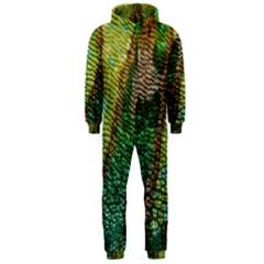 Chameleon Skin Texture Hooded Jumpsuit (men)