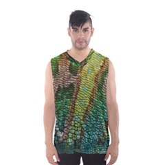 Chameleon Skin Texture Men s Basketball Tank Top