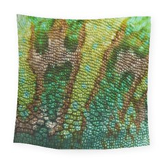 Chameleon Skin Texture Square Tapestry (large) by BangZart