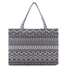 Aztec Pattern Design Medium Zipper Tote Bag