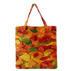 Leaves Texture Grocery Tote Bag by BangZart