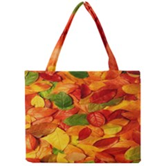 Leaves Texture Mini Tote Bag by BangZart