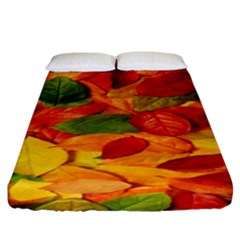 Leaves Texture Fitted Sheet (King Size)