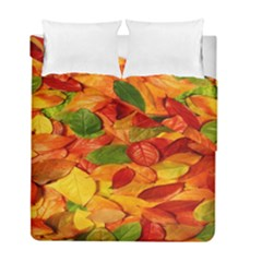 Leaves Texture Duvet Cover Double Side (full/ Double Size)