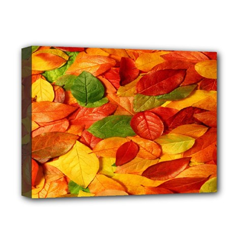 Leaves Texture Deluxe Canvas 16  X 12   by BangZart
