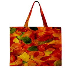 Leaves Texture Zipper Mini Tote Bag