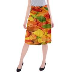 Leaves Texture Midi Beach Skirt
