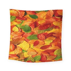 Leaves Texture Square Tapestry (small) by BangZart