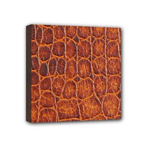 Crocodile Skin Texture Mini Canvas 4  X 4  by BangZart